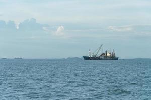 Stock tanker ship in Pattaya, Thailand photo