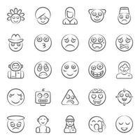 Modern Facial Expression and Emoji vector