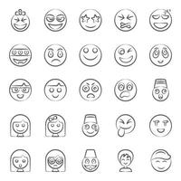 Modern Facial Expression and Emoji vector