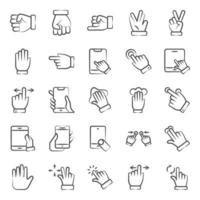 Modern Pointing and Hand Gesture vector