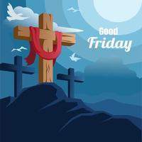 Good Friday Celebration Design vector