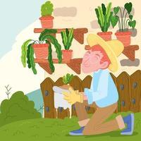 Gardening Activities Concept vector