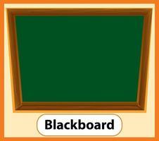 Educational English word card of Blackboard vector