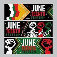 Juneteenth Activism Banner Concept vector