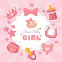 It's a Girl Celebration Design vector