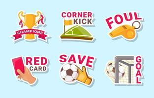 Soccer Sticker Collection vector