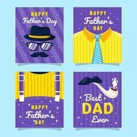 colección de tarjetas del día del padre vector