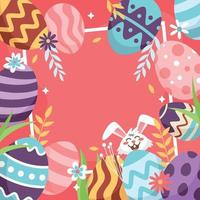 Easter Eggs Background Template vector