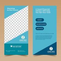 Blue Nice Rack Card Design Template vector