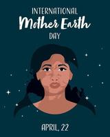 International Mother Earth Day banner vector