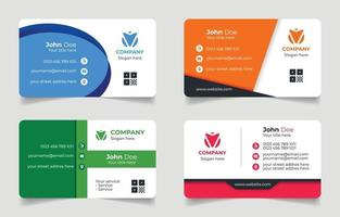 Business Card Template Collection vector