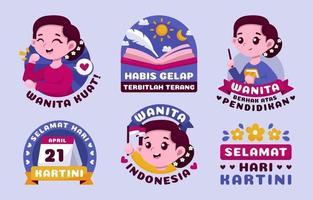 Hari Kartini Sticker Pack vector