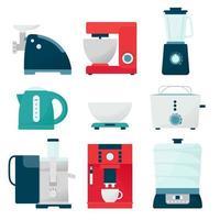 Set of kitchen appliances vector
