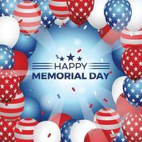 USA Memorial Day Background vector