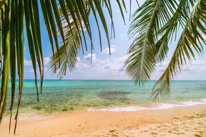 Beautiful paradise island with sea and beach landscape
