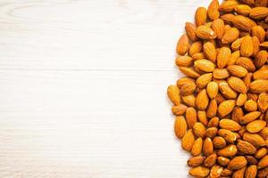 Almonds with copy space