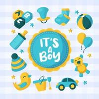 Born Day Cute Element Design Concept vector