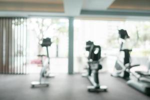 Abstract blur gym and fitness room photo