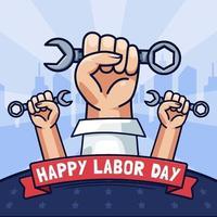 Happy Labor Day Celebration Concept vector
