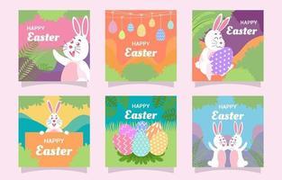 Easter Day Festivity Social Media Post vector