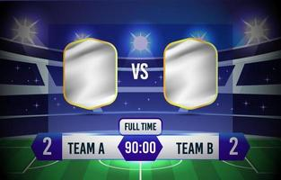 Scoreboard Soccer Background vector