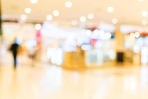 Abstract blur shopping mall interior background photo
