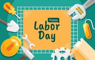 Labor Day Background in Flat Design vector