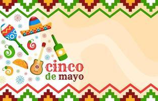 Cinco De Mayo Cartoon Background vector