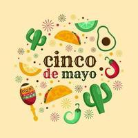 Cinco de Mayo Mexico Festivity vector
