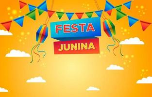 Festa Junina with Kites Background vector
