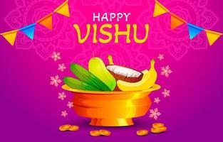 fondo de celebración del día de vishu vector