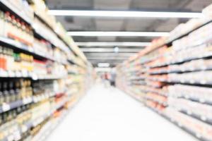 supermercado borroso abstracto