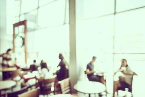 Fondo de cafetería desenfoque abstracto - filtro vintage
