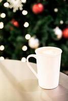 taza de cafe con leche foto