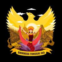 Pancasila Day with The Concept of Dancers vector