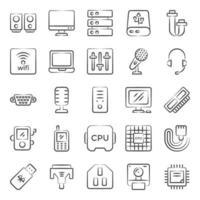 hardware y tecnología de la computadora vector