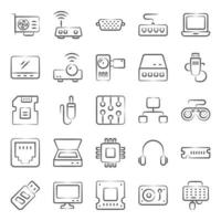 Computer Hardware and Devices vector