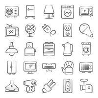 electrodomésticos modernos vector