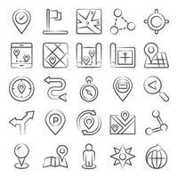 mapas, navegación y rastreador vector