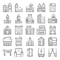 City Buildings and Home Interiors vector
