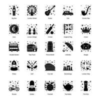 British Culture and Elements vector