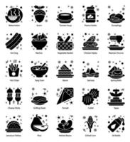 Food, Drinks and Confectionery Items vector