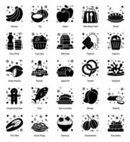 Fast Food, Drinks and Cuisine Items vector