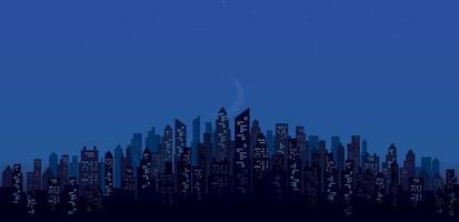 modern night city skyline landscape backgrounds vector illustration EPS10