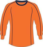 maquetas de suéter de portero de fútbol vector