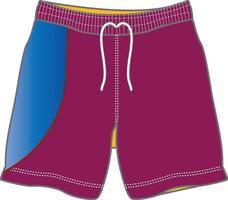 Men Swimming Board Shorts vector