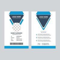 plantilla de tarjeta de identificación corporativa vector