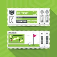 Golf Ticket Card modern element design. Vector illustration
