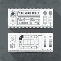 Volleyball Ticket Card modern element design. Vector illustration