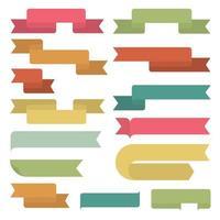 conjunto de cintas retro. diseño plano. ilustración vectorial